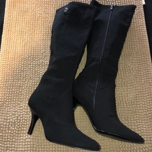 Anne Klein fabric boots size 7.5 NWOT